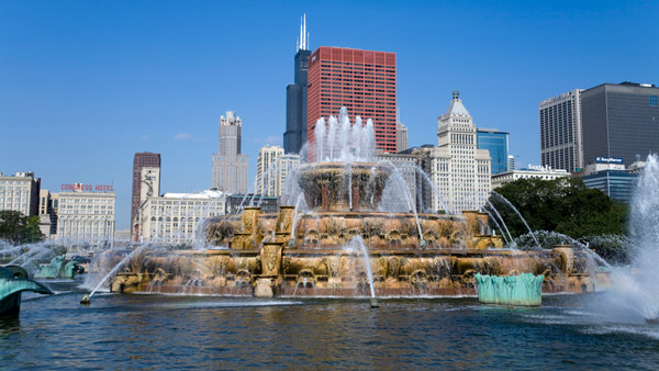 Buckingham Fountain, Chicago, Illinois.