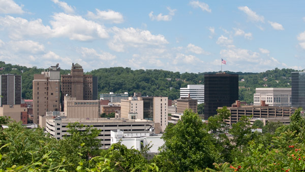 Charleston, West Virginia skyline.