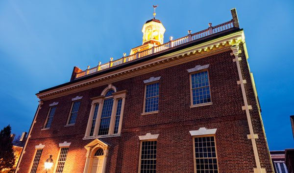 Old Capitol building in Dover, Delaware.