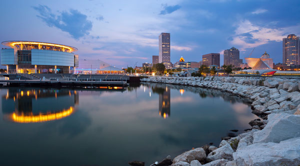 Skyline of Milwaukee.