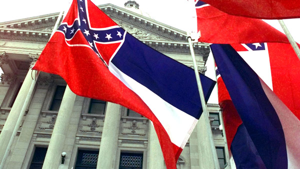 Mississippi flags at state capitol in Jackson. (Photo: AP)