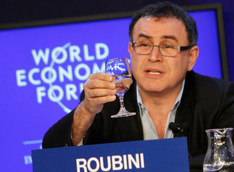 Nouriel Roubini at the World Economic Forum in Davos, Switzerland. (Photo: AP)