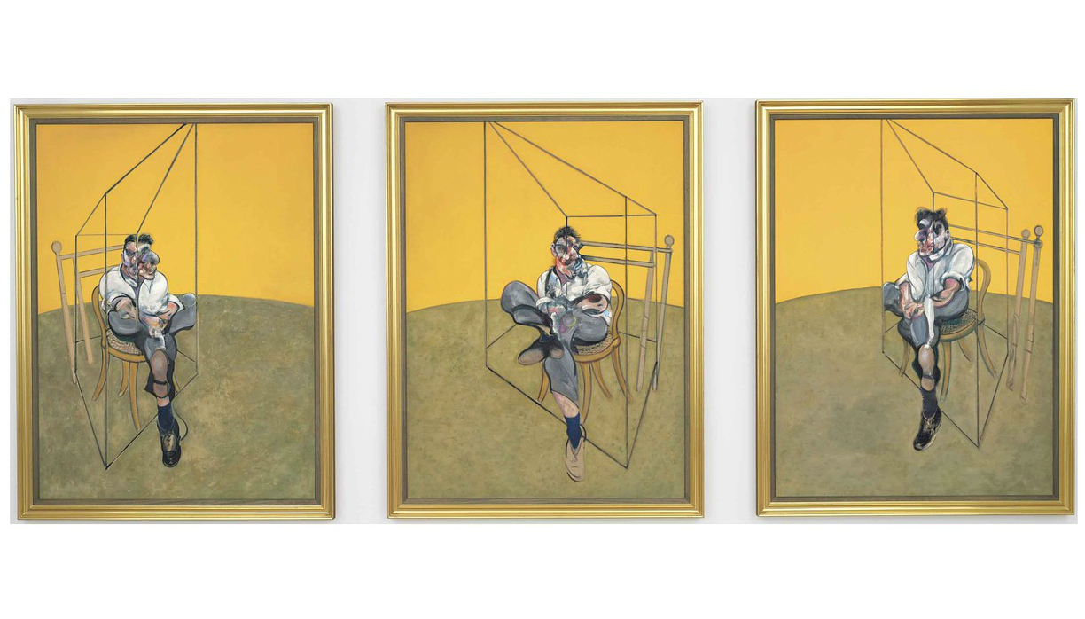 Three Studies of Lucien Freud (Francis Bacon, 1969)