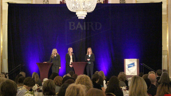 Kristin Wrobbel (left), Stephanie Warren & Kimberly Thekan at '13 Women at Baird