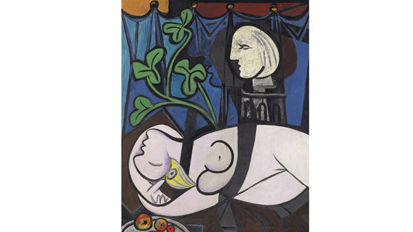 Nude, Green Leaves and Bust (Picasso, 1932)
