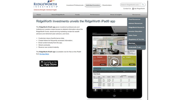 Ridgeworth iOS app