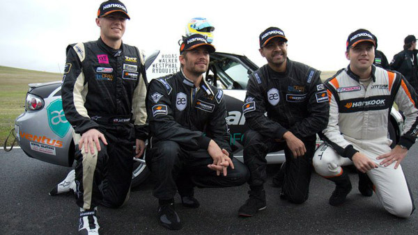 Left to right: Jeff Westphal, Paul Walker, Roger Rodas and Carl Rydquist. (Photo: Facebook — Always Evolving)