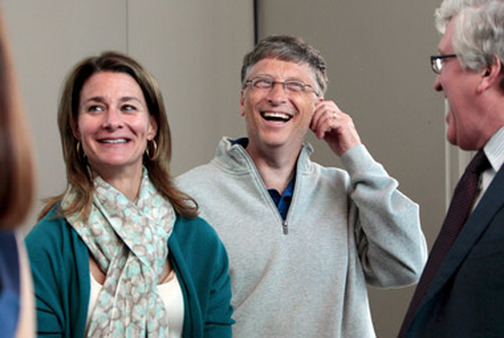 Melinda and Bill Gates. (Photo: AP)