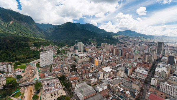 Downtown Bogota, Colombia.