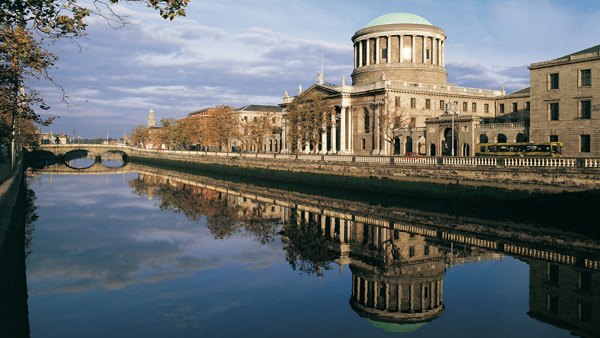 Four courts in Dublin, Ireland.