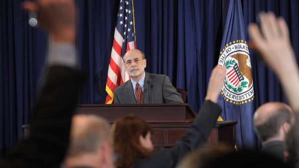 Judging Ben Bernanke, above, at a press conference, through the results of ETFs. (Photo:AP)