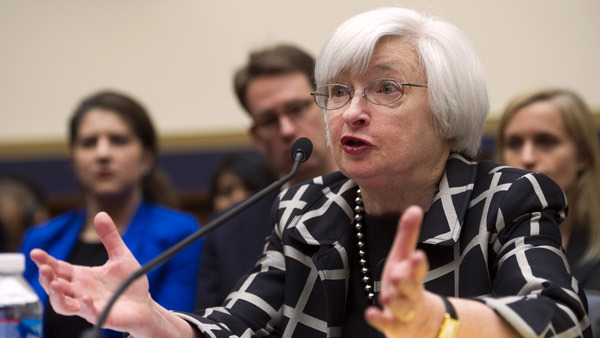 Fed Chairwoman Janet Yellen testifying before the House on Tuesday. (Photo: AP)
