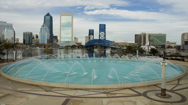 Friendship Fountain in Jacksonville, Fla.