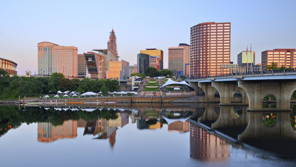 Hartford, Connecticut skyline.