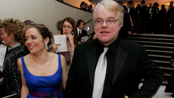 Philip Seymour Hoffman and girlfriend Mimi O'Donnell. (Photo: AP)
