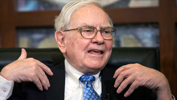 Buffett's BRK.B shares lost 31.8% in 2008. (Photo: AP)