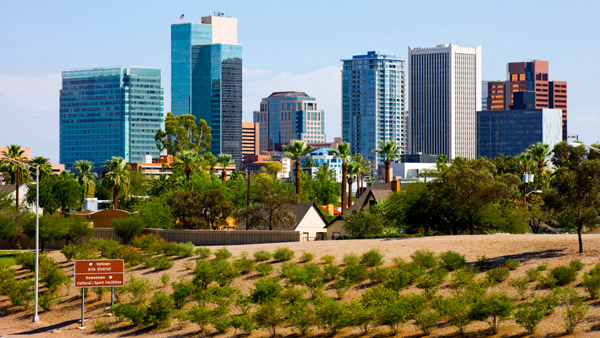 Phoenix, Arizona Skyline.