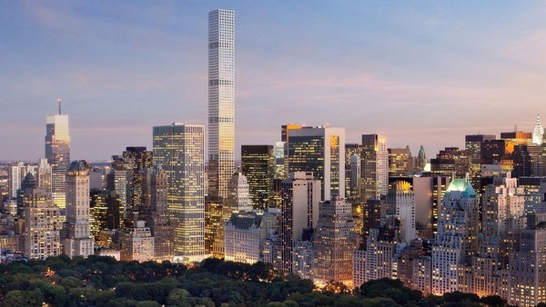 This property in New York, to be completed in 2015, has one of the most expensive penthouses in the world.
