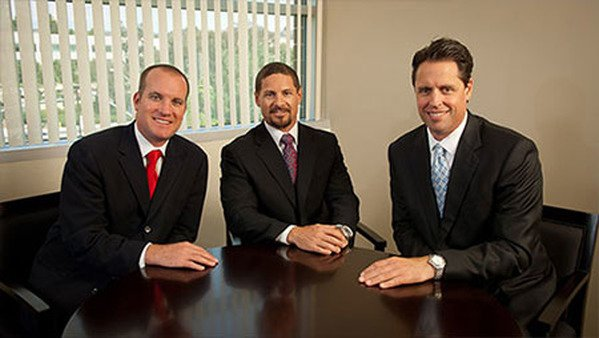 Ryan Clive-Smith (left), Neil McNeil and Robert Meyer at their Ibis Capital office in San Diego.