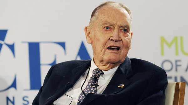 John Bogle, founder of The Vanguard Group and the first index mutual fund; president, The Bogle Financial Markets Research Center. (Photo: Bloomberg)