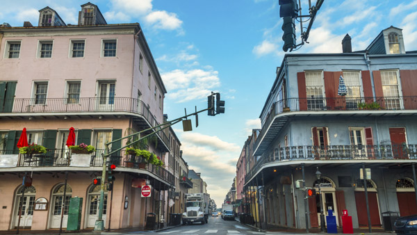 French Quarter in New Orleans, Louisiana.