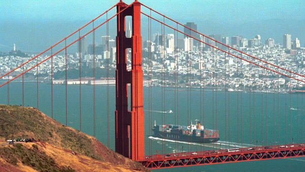 Golden Gate Bridge in San Francisco, CA. (Photo: AP)