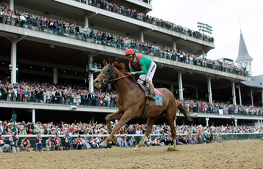 Racing during the Kentucky Derby at Churchill Downs Racetrack. (Photo: AP)