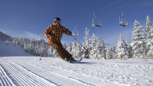 Skier on the slopes at a Killington Resort, Vermont. (Photo: AP)