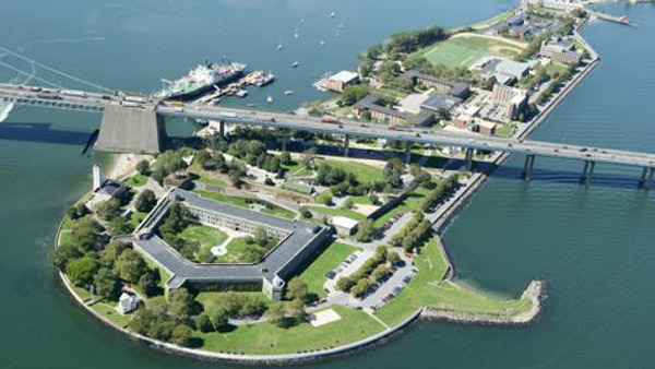 SUNY Maritime College campus at Fort Schuyler on the Throggs Neck peninsula.