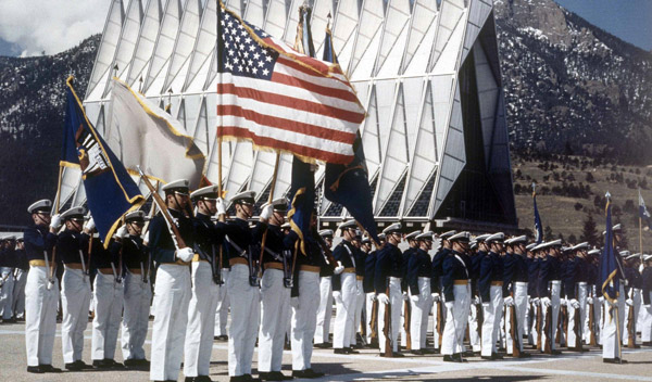 Air Force Academy cadets in formation. (Photo: AP)