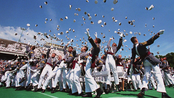 United States Military Academy cadets celebrating graduation. (Photo: AP)