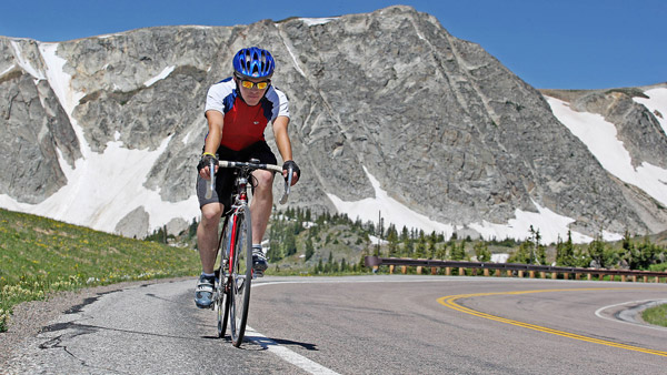 Biker in Wyoming. (Photo: AP)
