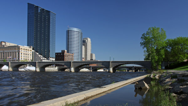 Downtown Grand Rapids, Michigan.