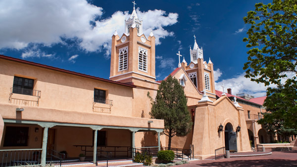 Church of San Felipe in Albuquerque, New Mexico.