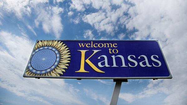 Kansas road sign.