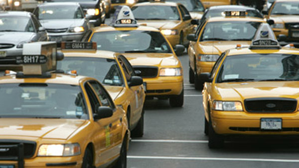 Yellow taxi cabs. (Photo: AP)