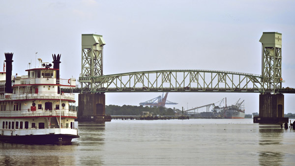 Cape Fear Memorial Bridge in Wilmington.