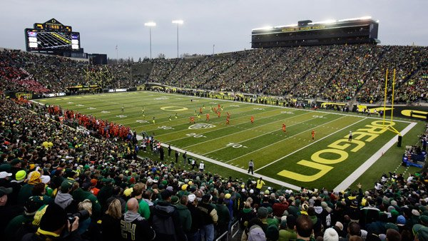 NCAA college game against Oregon State at the Autzen Stadium in Eugene, Ore. (Photo: AP)