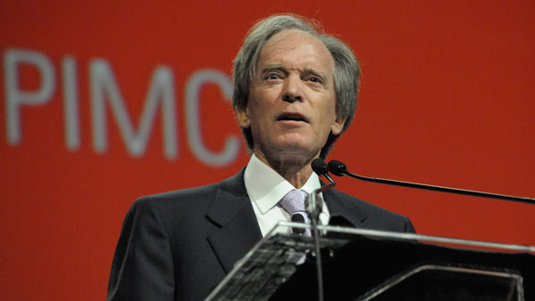 Bill Gross speaking at Morningstar Conference (after removing his shades).