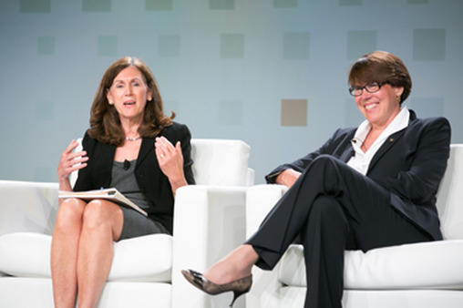 Barbara Roper, right, with Marilyn Mohrman-Gillis at TDAI conference.