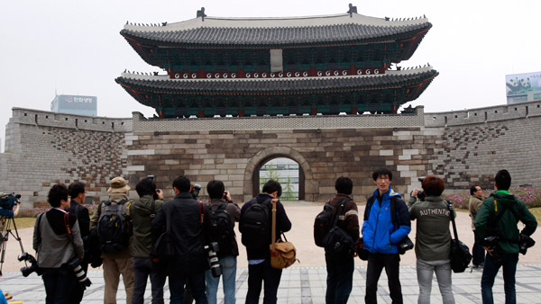 Sungnyemun gate in Seoul, South Korea. (Photo:AP)
