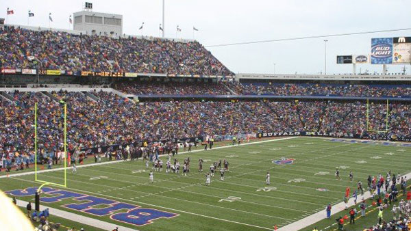 Ralph Wilson Stadium in Buffalo.