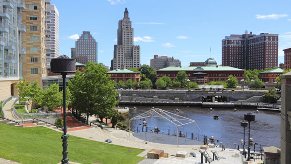 Downtown Providence, Rhode Island.