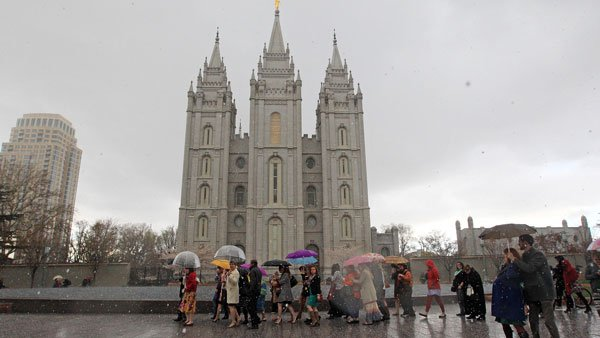 Mormon Temple in Salt Lake City. (Photo: AP)