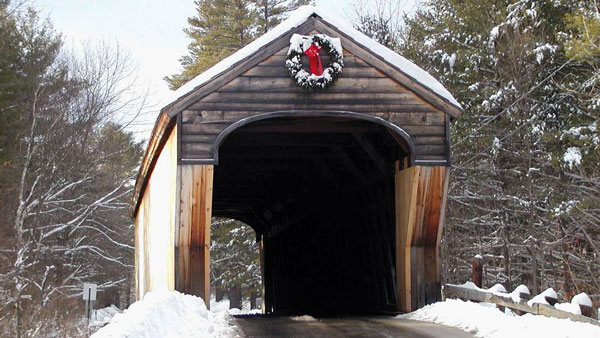 The Corbin Covered Bridge in Newport, New Hampshire. (Photo: AP)