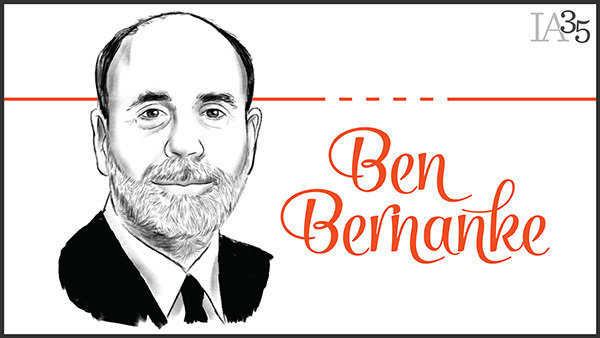 Ben Bernanke first appeared on the IA 25 in 2006. This is his second time on the list. (Portrait: Joel Kimmel)