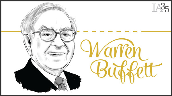 Believe it or not, this is the first year Warren Buffett has appeared on the IA 25. (Portrait: Joel Kimmel)