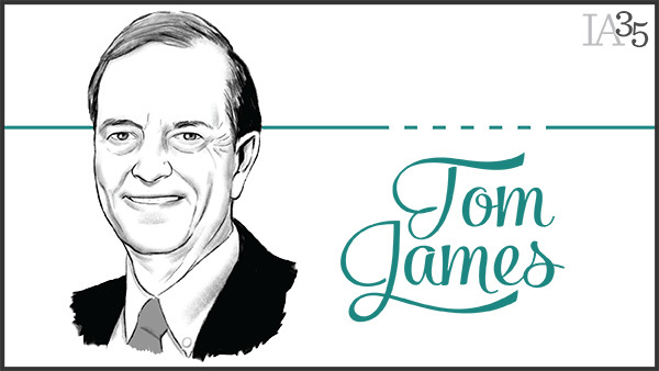 This is the second time Tom James has been featured on the IA 25. He first appeared in 2008. (Portrait: Joel Kimmel)
