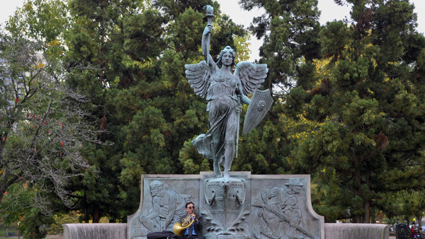 A statue of the Spirit of Victory in Bushnell Park in Hartford. (Photo: AP)