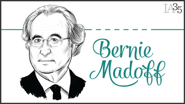 We featured Madoff in 2009 after he pleaded guilty to orchestrating a global Ponzi scheme. (Portrait: Joel Kimmel)